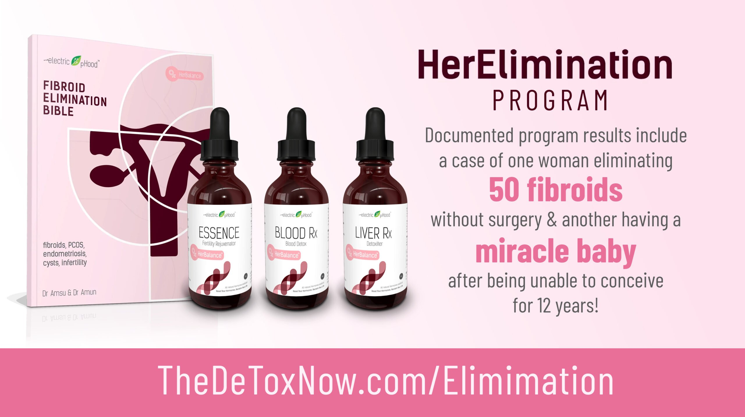 HerElimination Program to reverse and prevent inflammatory conditions such as fibroids, cysts, endometriosis, infertility and more.